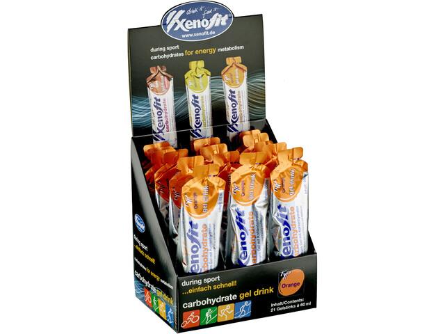 Xenofit Carbohydrate Hydro Gel Box 21x60ml, Orange (2019) | Energy gels